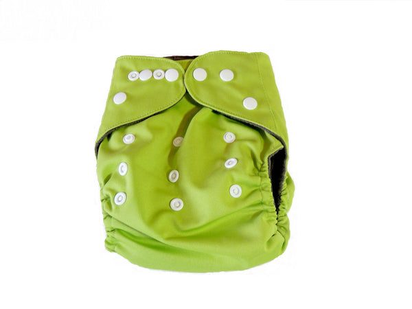 CB Pocket Diaper With Double Gussets - Lime Green