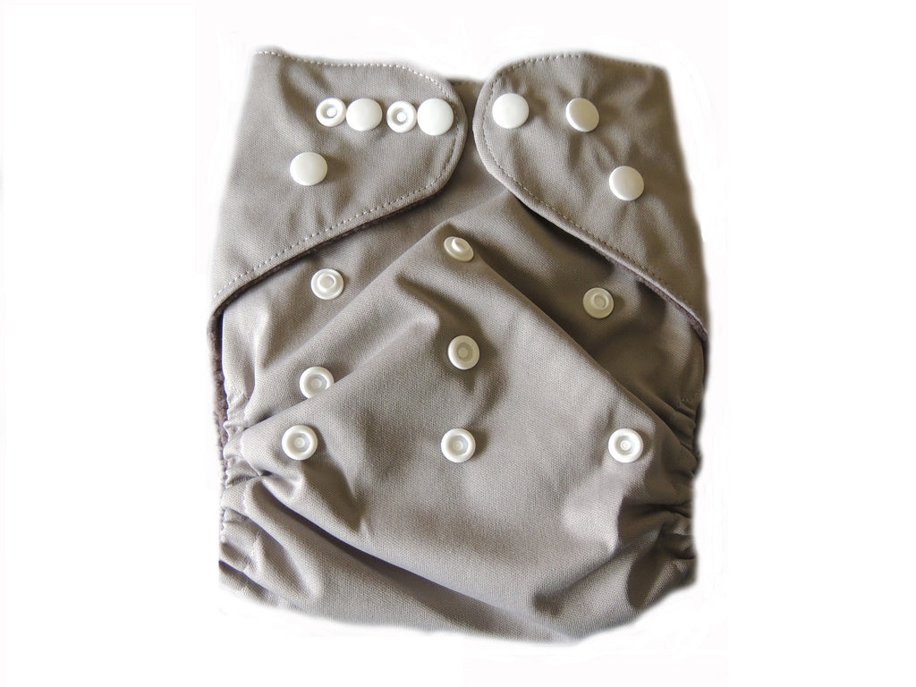 CB Pocket Diaper With Double Gussets - Grey