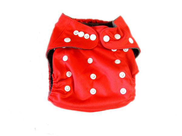 CB Pocket Diaper With Double Gussets - Red
