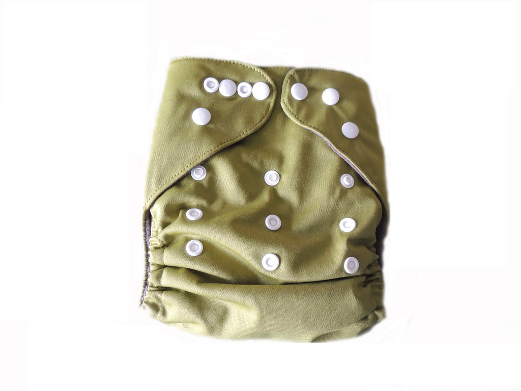 CB Pocket Diaper With Double Gussets - Sage