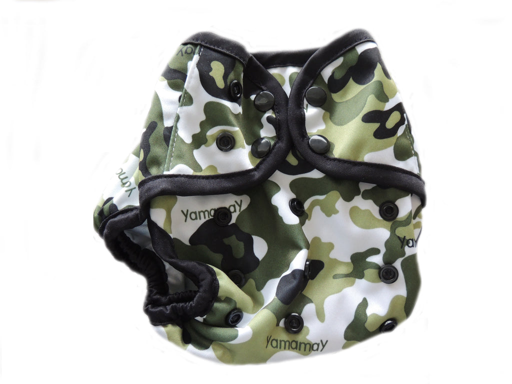 Diaper Cover With Double Gussets - Camo