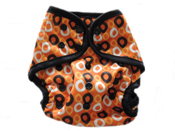 Diaper Cover With Double Gussets - Designs on Brown