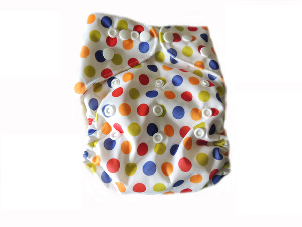 AIO With Bamboo Insert and Lining - Polka Dots