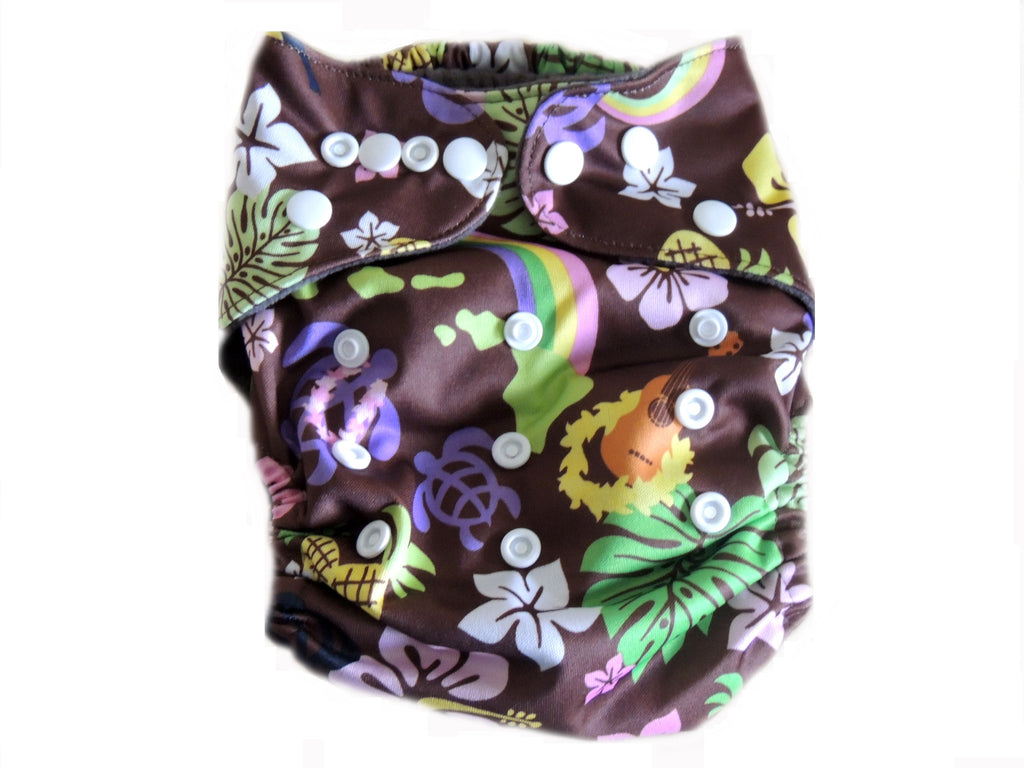 AI2 4.0 Diaper With Double Gussets - Hawaiian