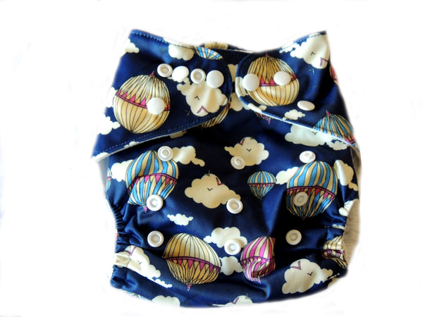 NEW Pocket Diaper With Double Gussets - Air Baloons