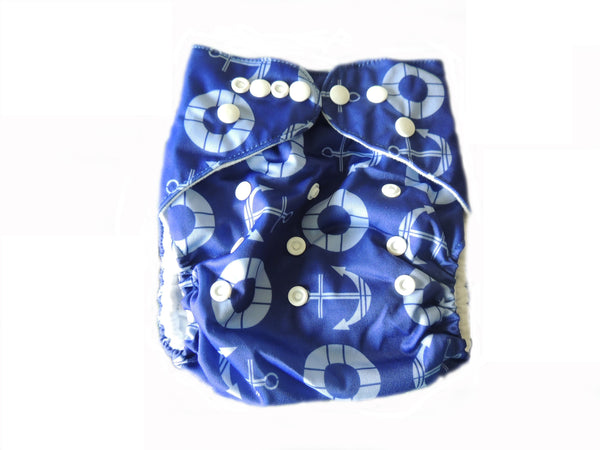 Pocket Diaper With Double Gussets - Anchors