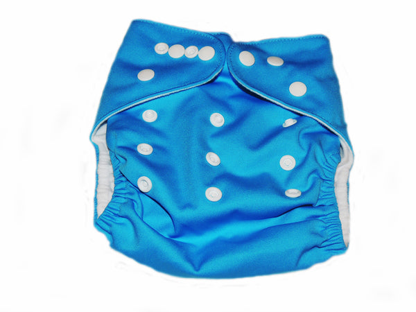 Pocket Diaper With Double Gussets - Blue