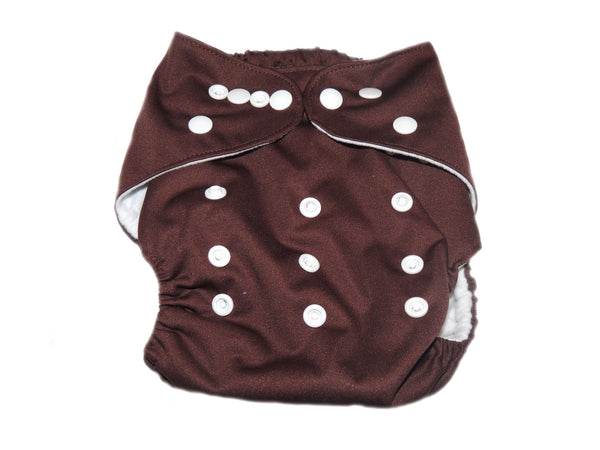 Pocket Diaper With Double Gussets - Brown