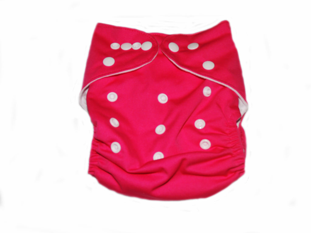 Pocket Diaper With Double Gussets - Fuchsia