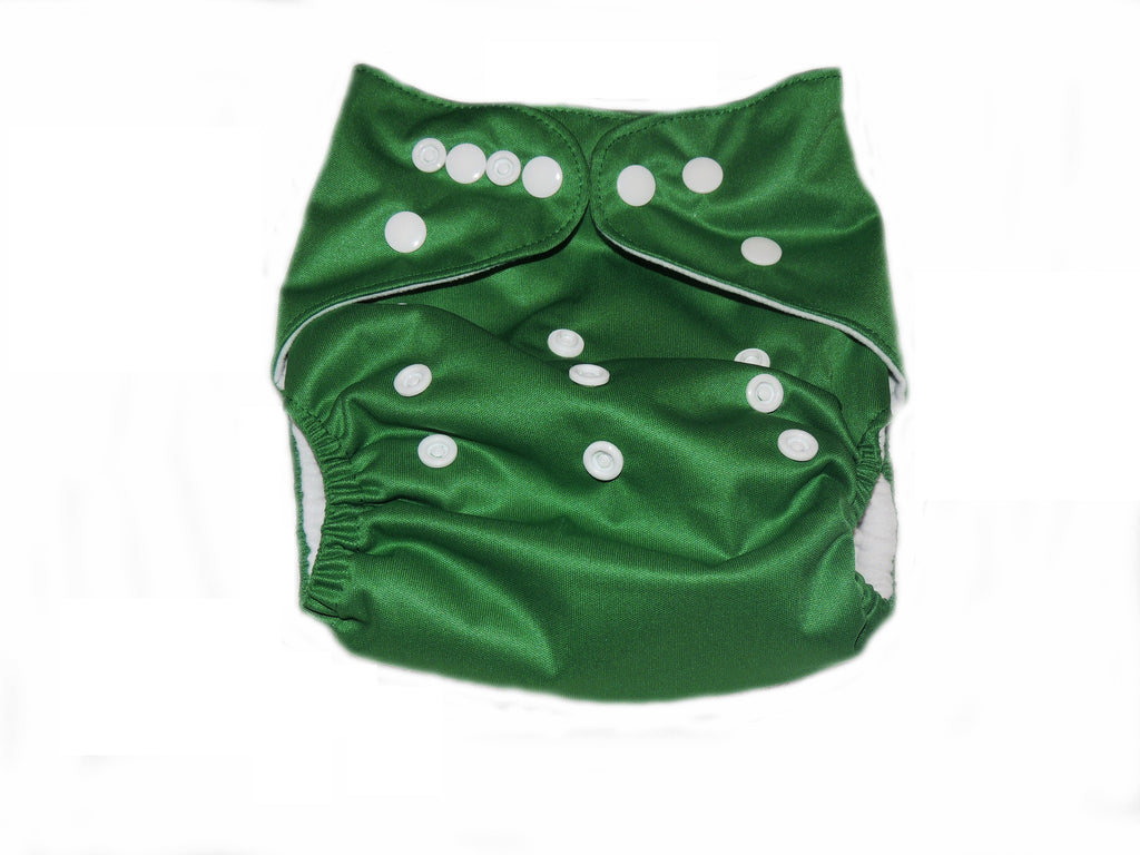Pocket Diaper With Double Gussets - Green