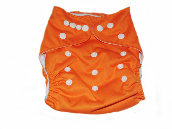 Pocket Diaper With Double Gussets - Orange