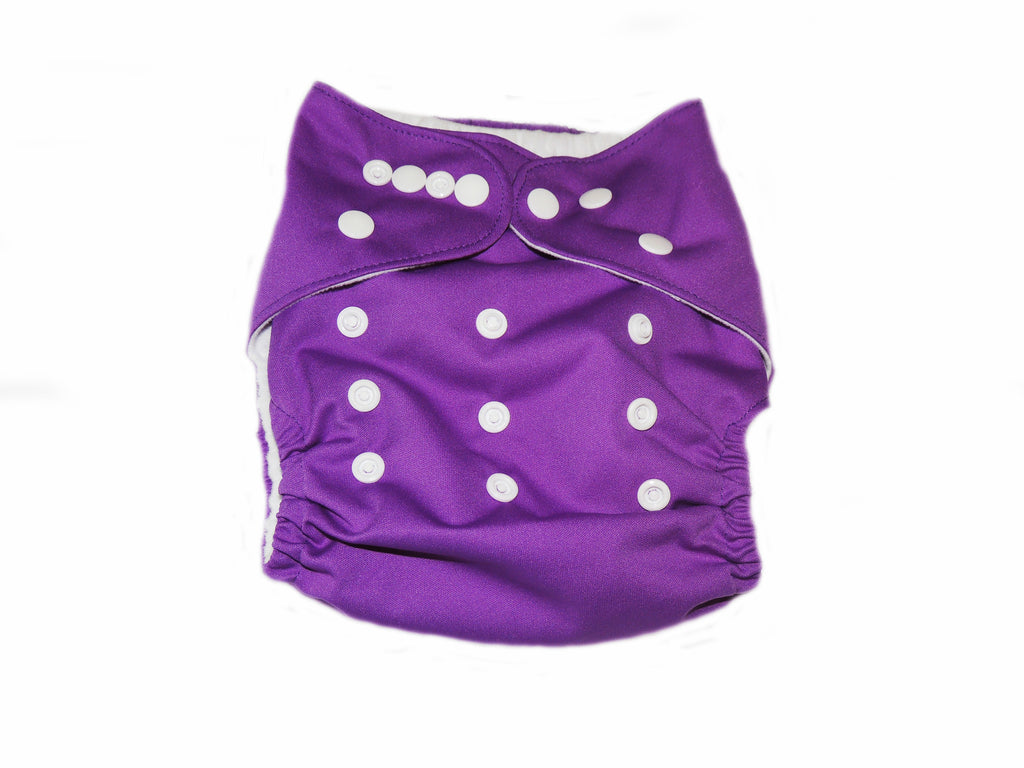 Pocket Cloth Diaper With Double Gussets - Purple