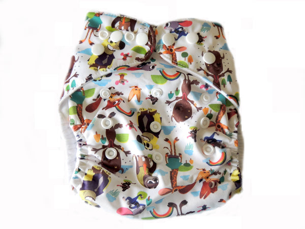 Pocket Diaper With Double Gussets - Zootopia