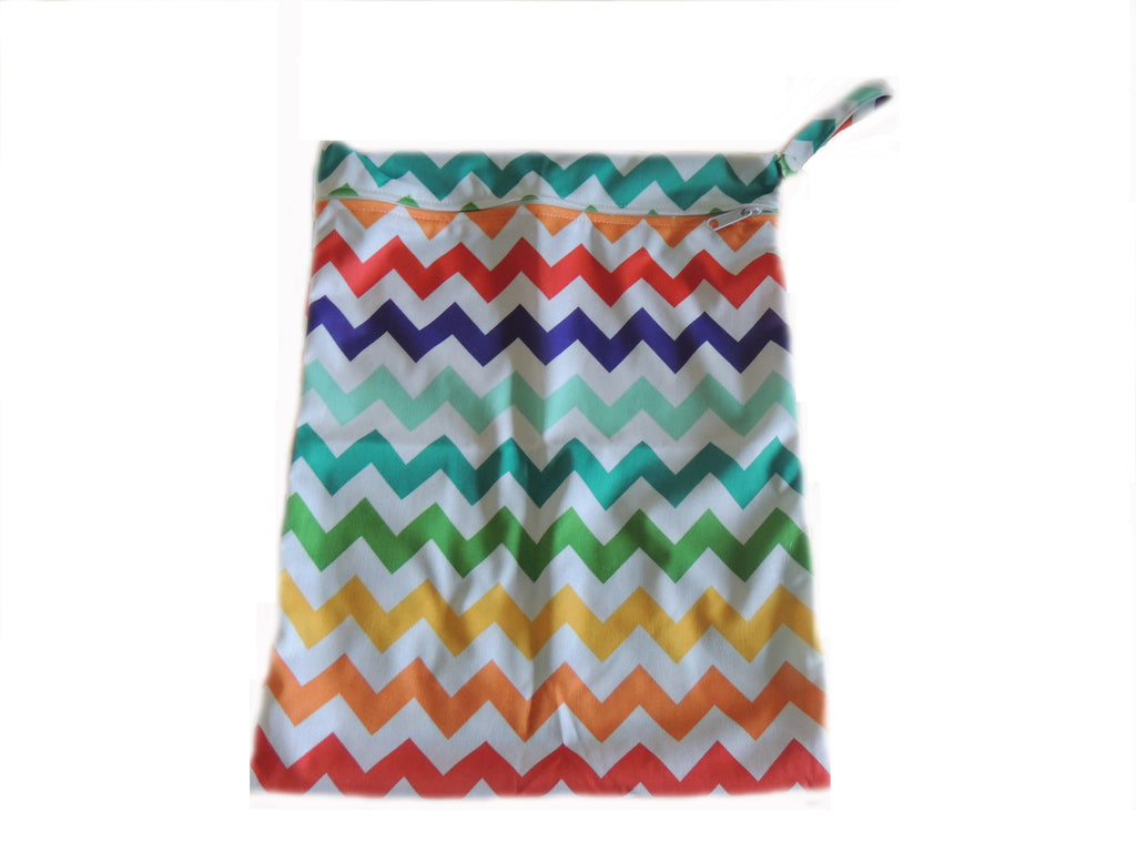 Wet Bag - Rainbow Chevron