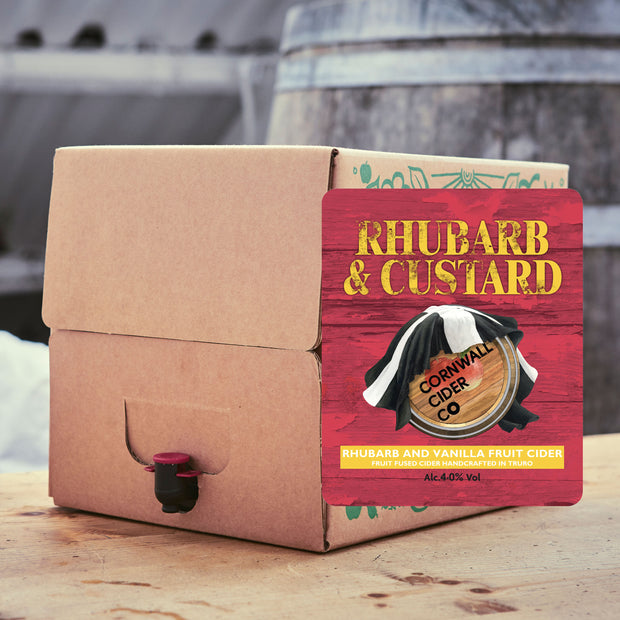 Rhubarb and Custard 4.0% alc Fruit Cider, 10ltr or 20ltr Bag In Box
