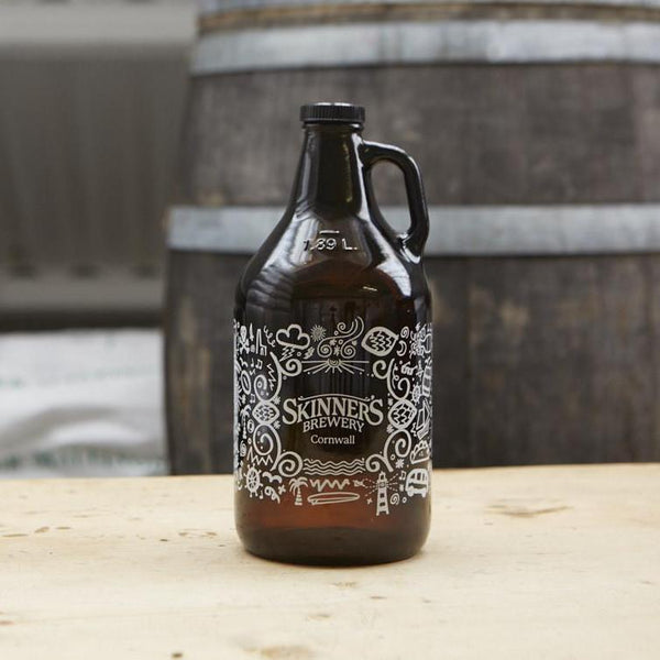 Skinner Growler on table