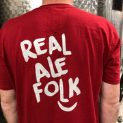 Red T-shirt for proud 'Real Ale Folk'- Last Chance to Buy! (ONLY £4.95 FOR FIRST T SHIRT WHEN PURCHASED WITH ANY BEER THIS JANUARY & FEBRUARY!)
