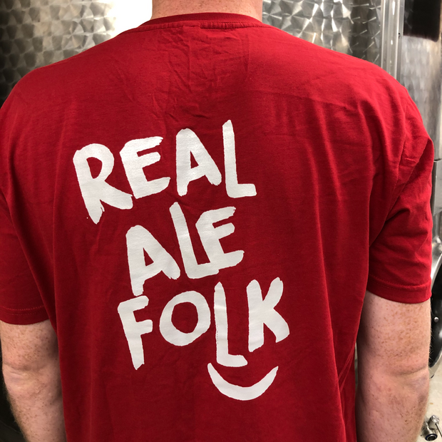 Red T-shirt for proud 'Real Ale Folk'- Last Chance to Buy!