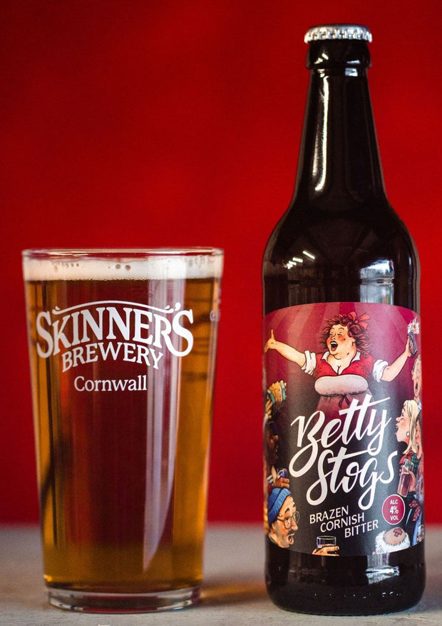 Betty Stogs, 4% abv, Brazen Cornish Bitter, 12 x 500ml Bottle Case (GET 12 BOTTLES FOR PRICE OF 9 THIS JANUARY & FEBRUARY!)