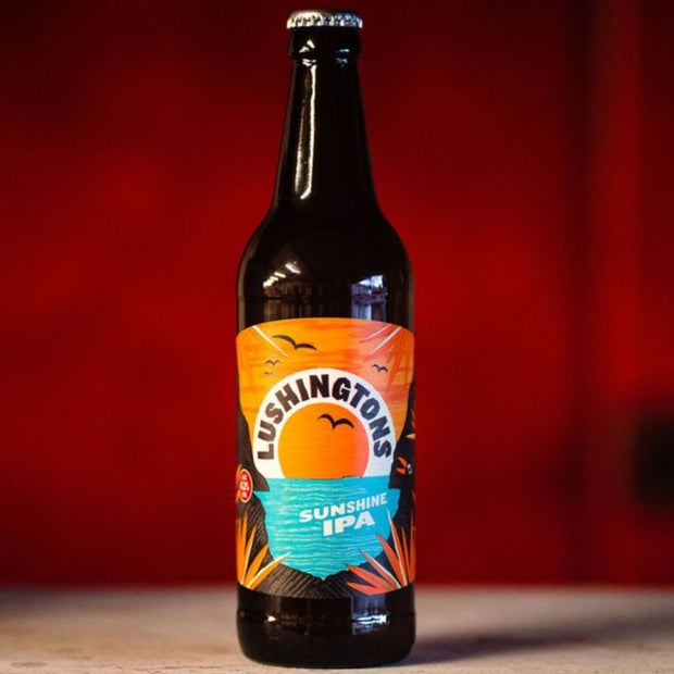Lushingtons, 4.2% abv, Sunshine IPA, 12 x 500ml Bottle Case  (GET 12 BOTTLES FOR PRICE OF 9 THIS JANUARY & FEBRUARY!)