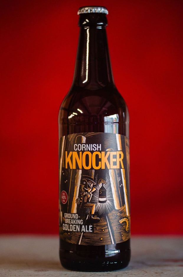 Cornish Knocker, 4.5% abv,  Ground-Breaking Golden Ale, 12 x 500ml Bottle Case