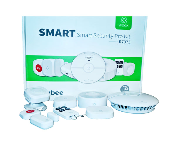 R7073 ZIGBEE Smart Home Security Kit PRO, 12- teilig, SOS Rauch- + Bewegmelder