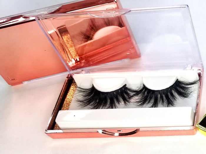 Rose Gold 25MM Eyelash Case - ZivaLash Silk, Mink &Fashion Lashes