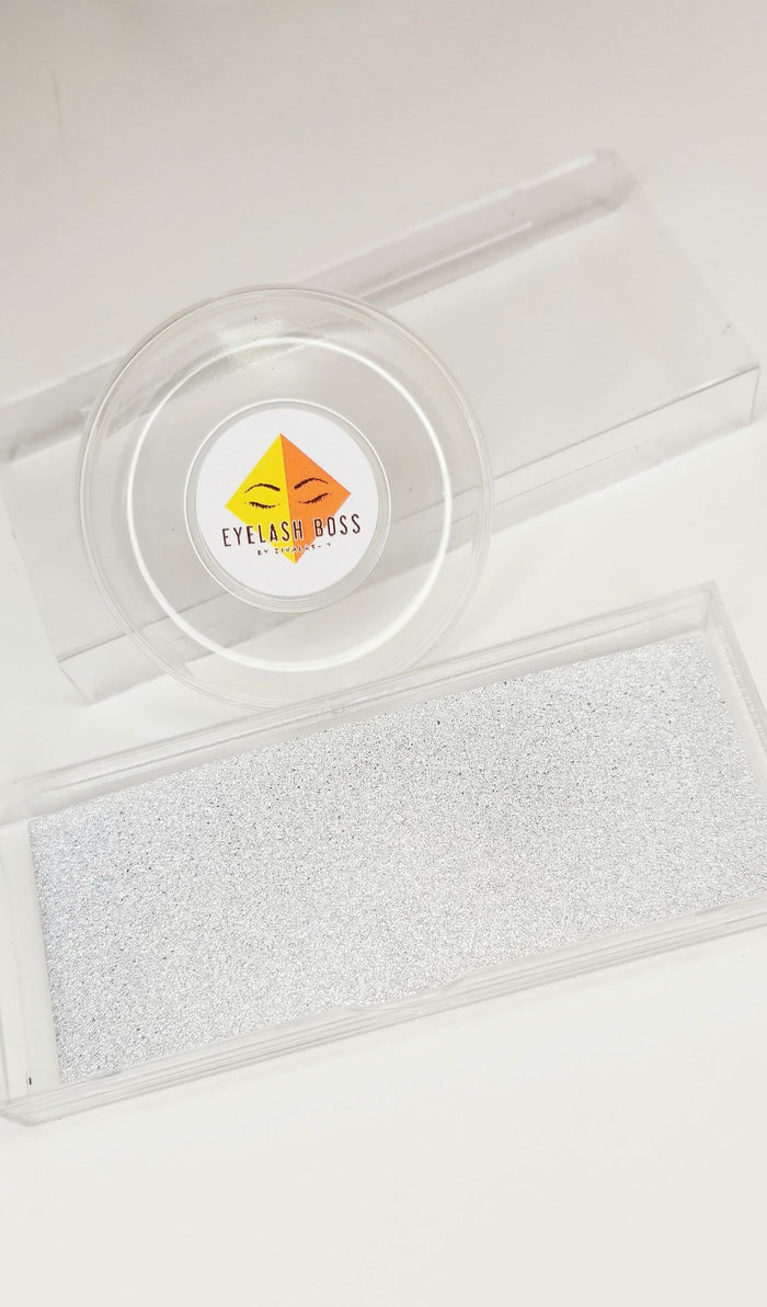 Silver sold in sets of 25 - Background inserts for Clear rectangle plastic sliding eyelash cases