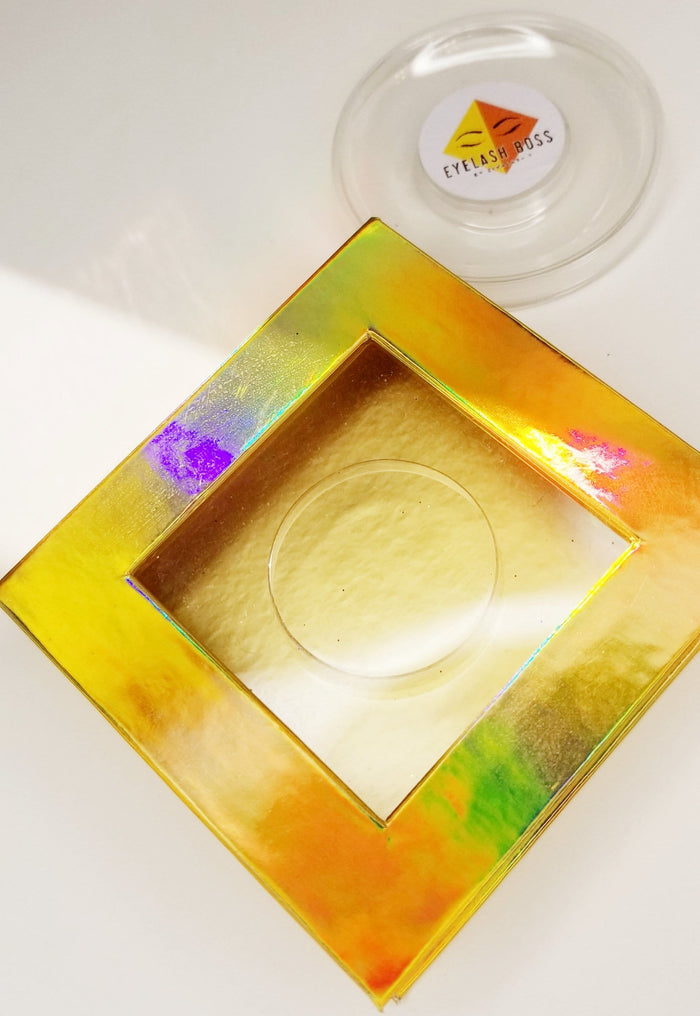 Liquid Gold Square Eyelash Cases