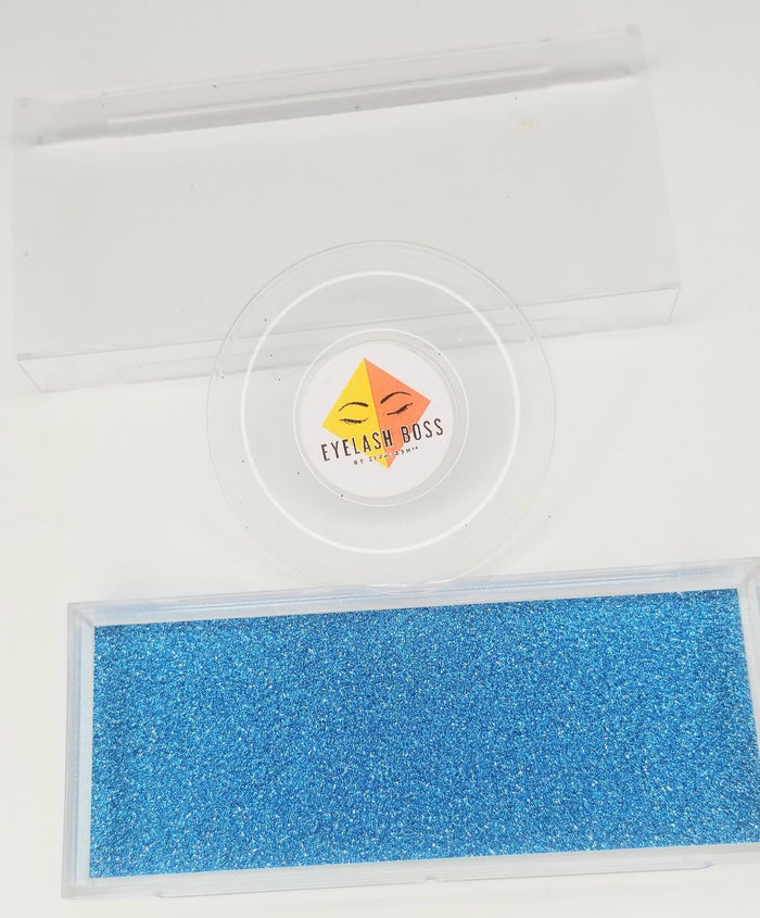 Sapphire - Background inserts for Clear rectangle plastic sliding eyelash cases - ZivaLash Silk, Mink &Fashion Lashes
