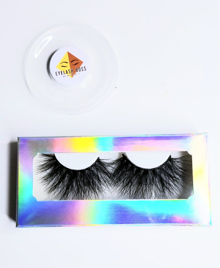 Moon Lover-Scratch w/Little Scuff - Rectangle Paper Eyelash Boxes - ZivaLash Silk, Mink &Fashion Lashes