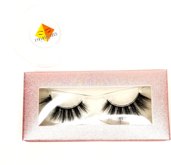 Pink Lemonade - Rectangle Paper Eyelash Boxes - ZivaLash Silk, Mink &Fashion Lashes