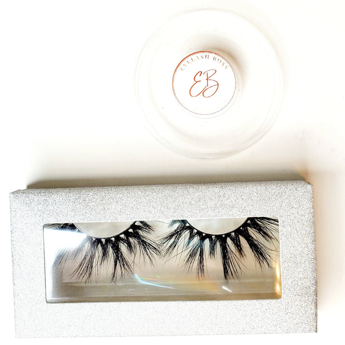 Silver Fox - Rectangle Paper Eyelash Boxes - ZivaLash Silk, Mink &Fashion Lashes