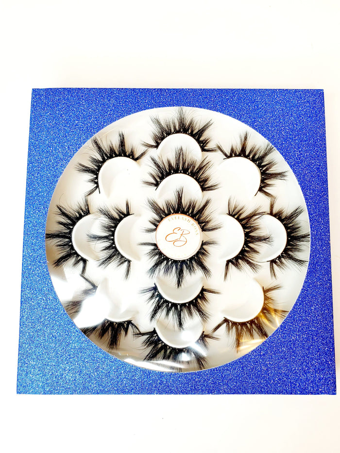 Blue Multiple Eyelash Plastic Trays - ZivaLash Silk, Mink &Fashion Lashes