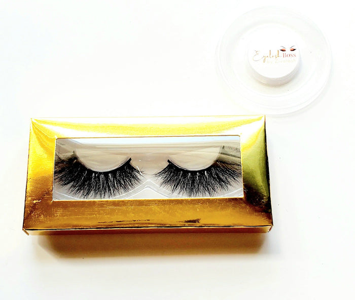 New Years Eve Gold - Rectangle Paper Eyelash Boxes - ZivaLash Silk, Mink &Fashion Lashes
