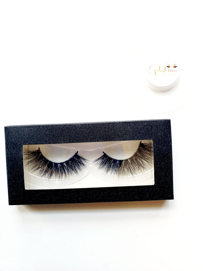 I love Black - Rectangle Paper Eyelash Boxes - ZivaLash Silk, Mink &Fashion Lashes
