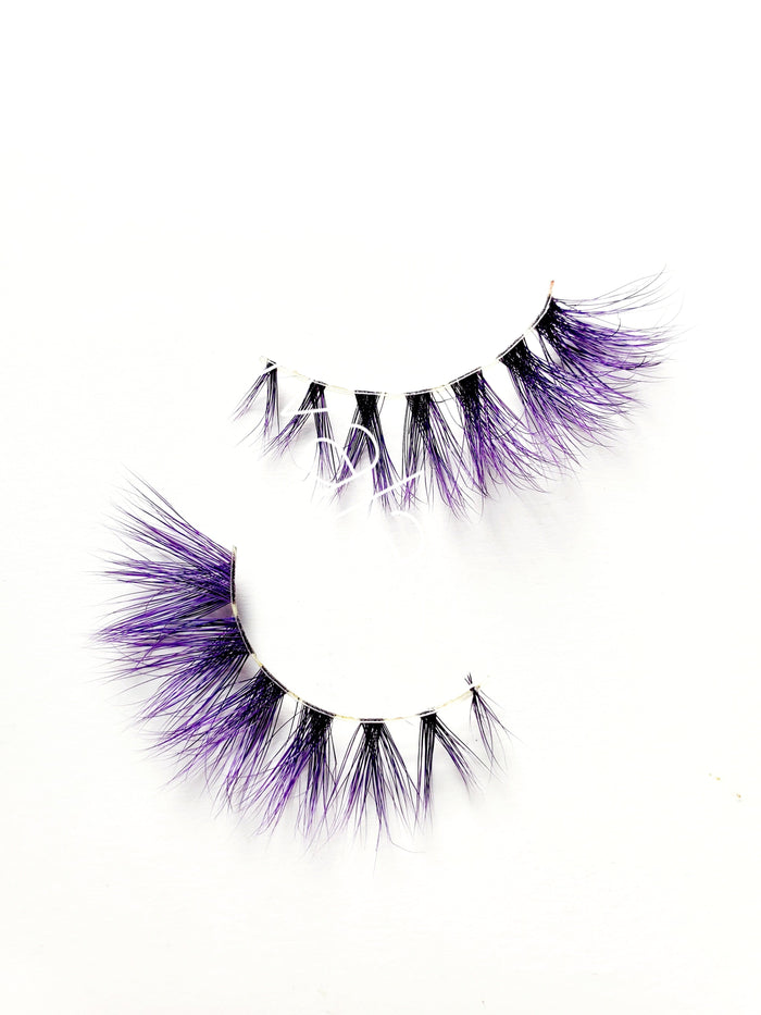 Posh Purple Corset Colored Mink Eyelashes - ZivaLash Silk, Mink &Fashion Lashes