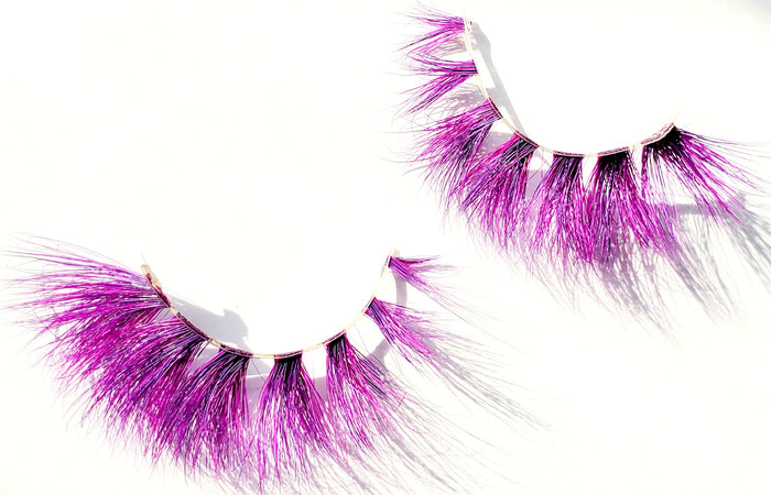 W.A.P Pink Purple Colored Mink Eyelashes - ZivaLash Silk, Mink &Fashion Lashes