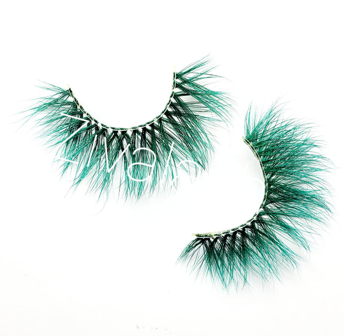"""G-Spot"" Green Colored Mink Eyelashes - ZivaLash Silk, Mink &Fashion Lashes"