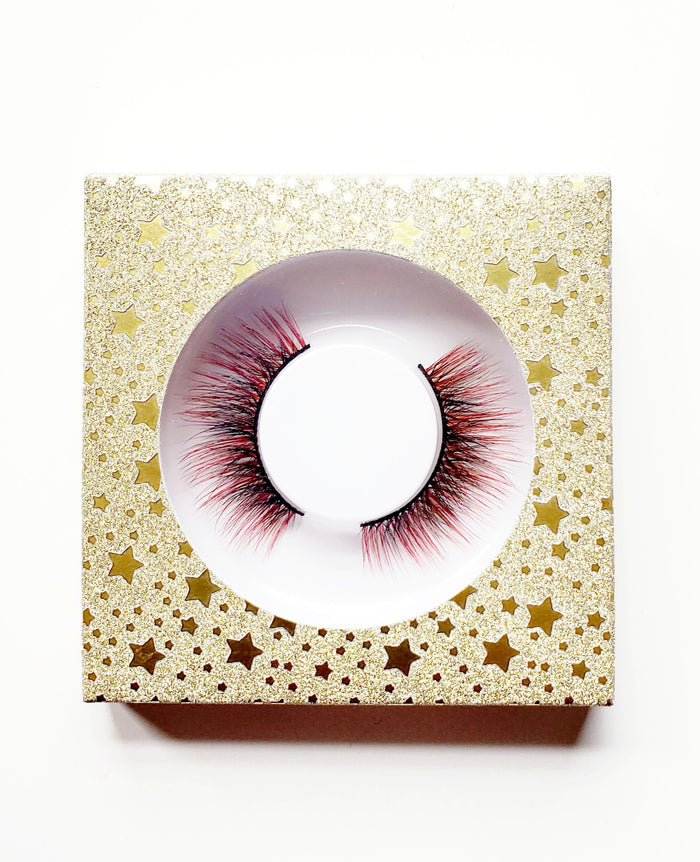 Starlight Yellow - Affordable Glitter Eyelash Case Box - ZivaLash Silk, Mink &Fashion Lashes