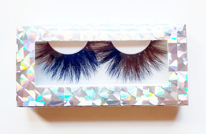 Sparkle n Shine Silver Rectangle Paper Eyelash Boxes - ZivaLash Silk, Mink &Fashion Lashes