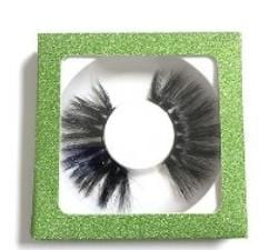 Jade Green - Affordable Glitter Eyelash Case Box - ZivaLash Silk, Mink &Fashion Lashes