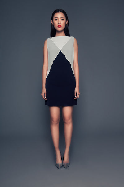 Susie Dress | Boat neck sleeveless dress
