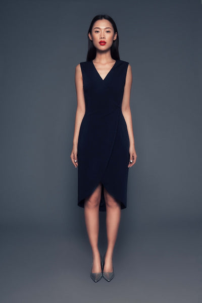 Chiara Dress | Sleeveless wrap dress