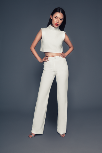 Joyce Pants | High rise white trousers