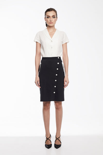 Rita Skirt | Button down pencil skirt