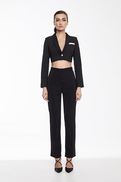 Stella Pants in Black | Straight leg dress pants