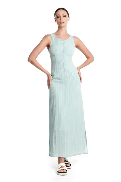 Peyton Dress | Sleeveless maxi dress with side slits