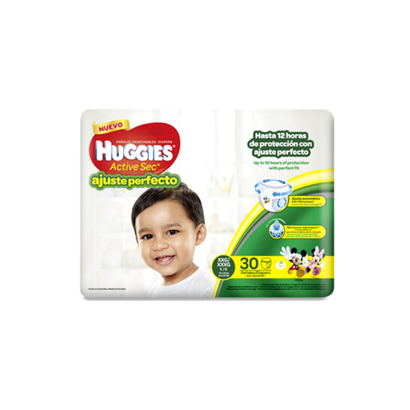 Pañal Pants Ajustable Et5 X30 Huggies (4625975935062)