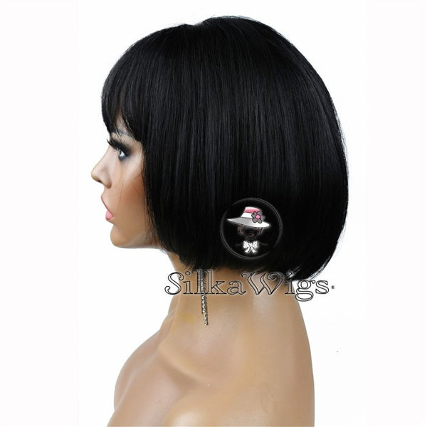 lace front bob wigs with bangs